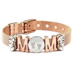 Jewelry - MOM No 1 - SILVER/ROSE GOLD
